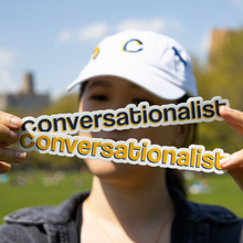 "Load image into Gallery viewer, ""The Conversationalist"" Sticker"