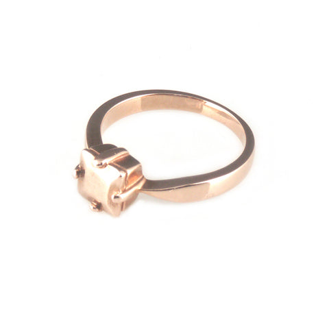 'Diamond Temptation' - 9ct rose gold princess cut diamond ring