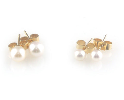 'Pearl Wonder' - Akoya pearls gold ear studs