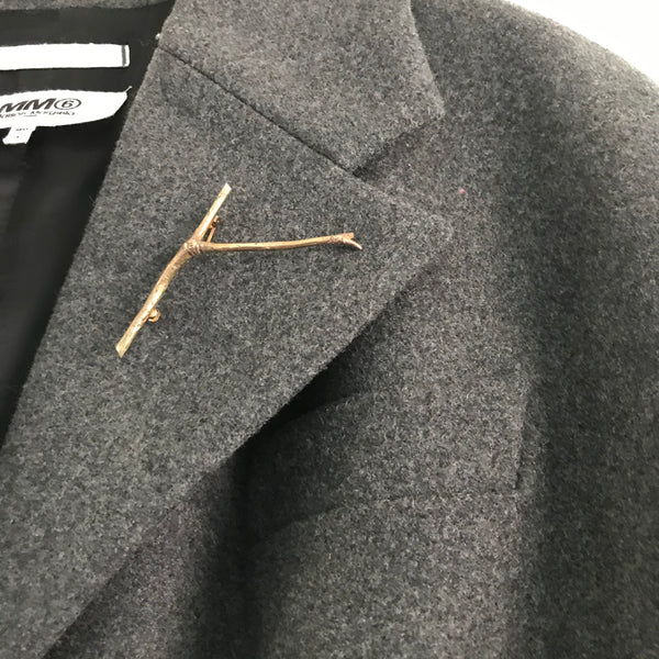'Wearing Nature' - Rose gold Twig brooch