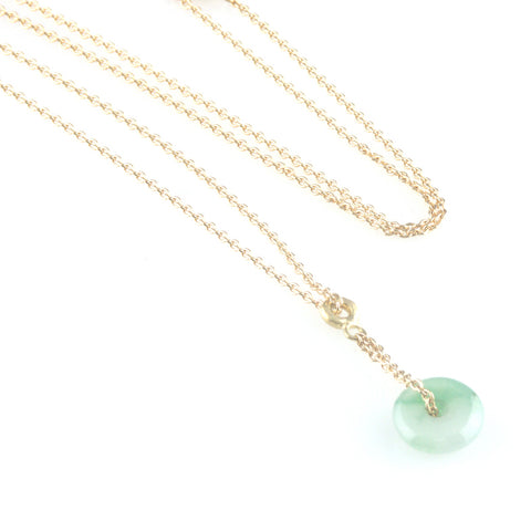 'Gem Amour'- Gold necklace with jade pendant