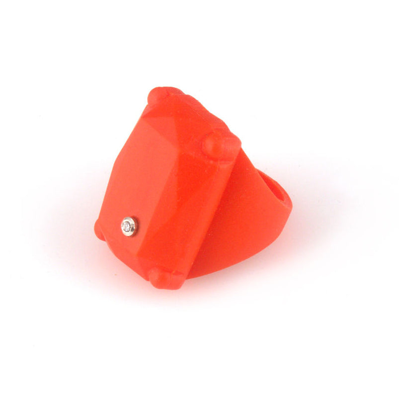 Orange colour rubber ring with diamond