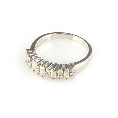 'Diamond Temptation' -  silver diamond band ring