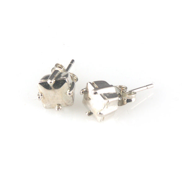 'Diamond Temptation' - silver princess cut diamond earrings