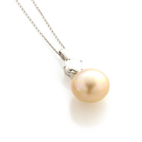 'Pearl Wonder' - white gold diamond and south sea pearl necklace