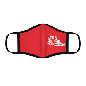 """Eyes On The Horizon"" Fitted Polyester Face Mask"