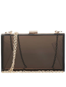 Clear Black Clutch