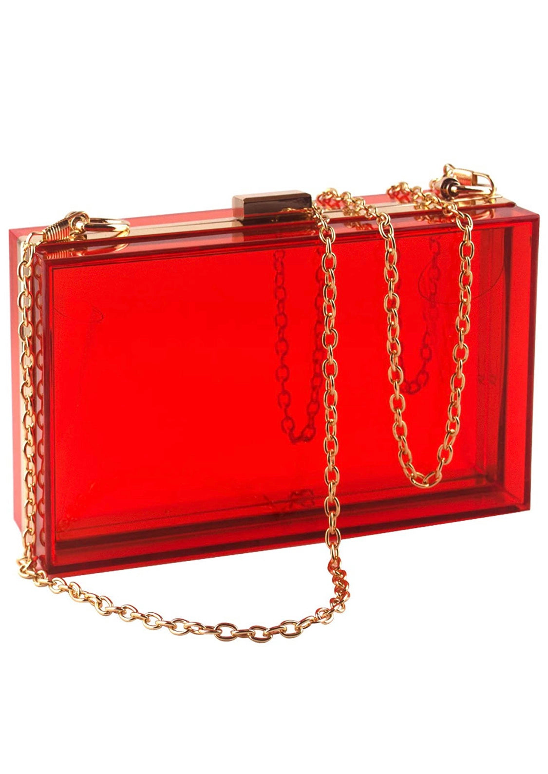 Baddie Red Clutch