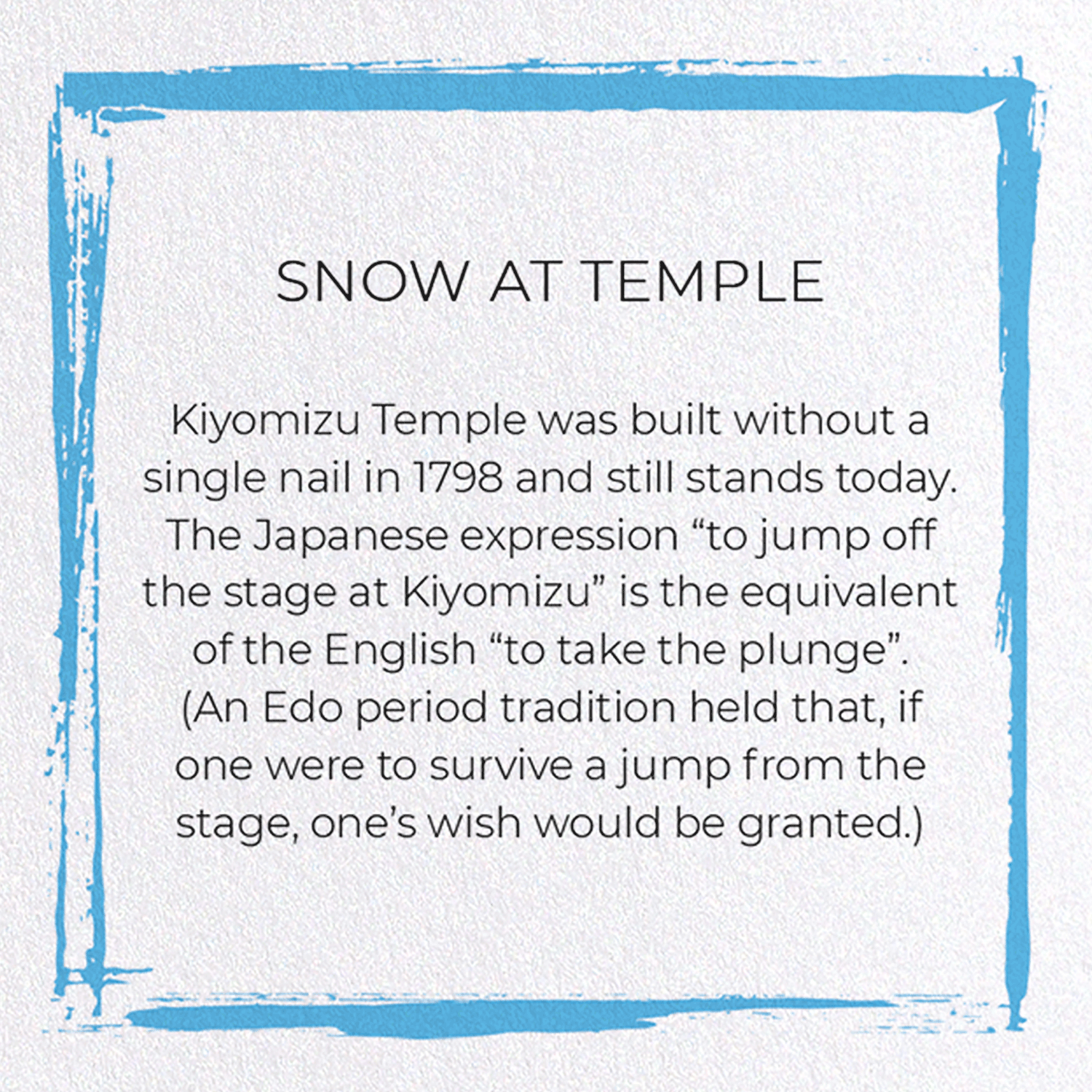 SNOW AT TEMPLE