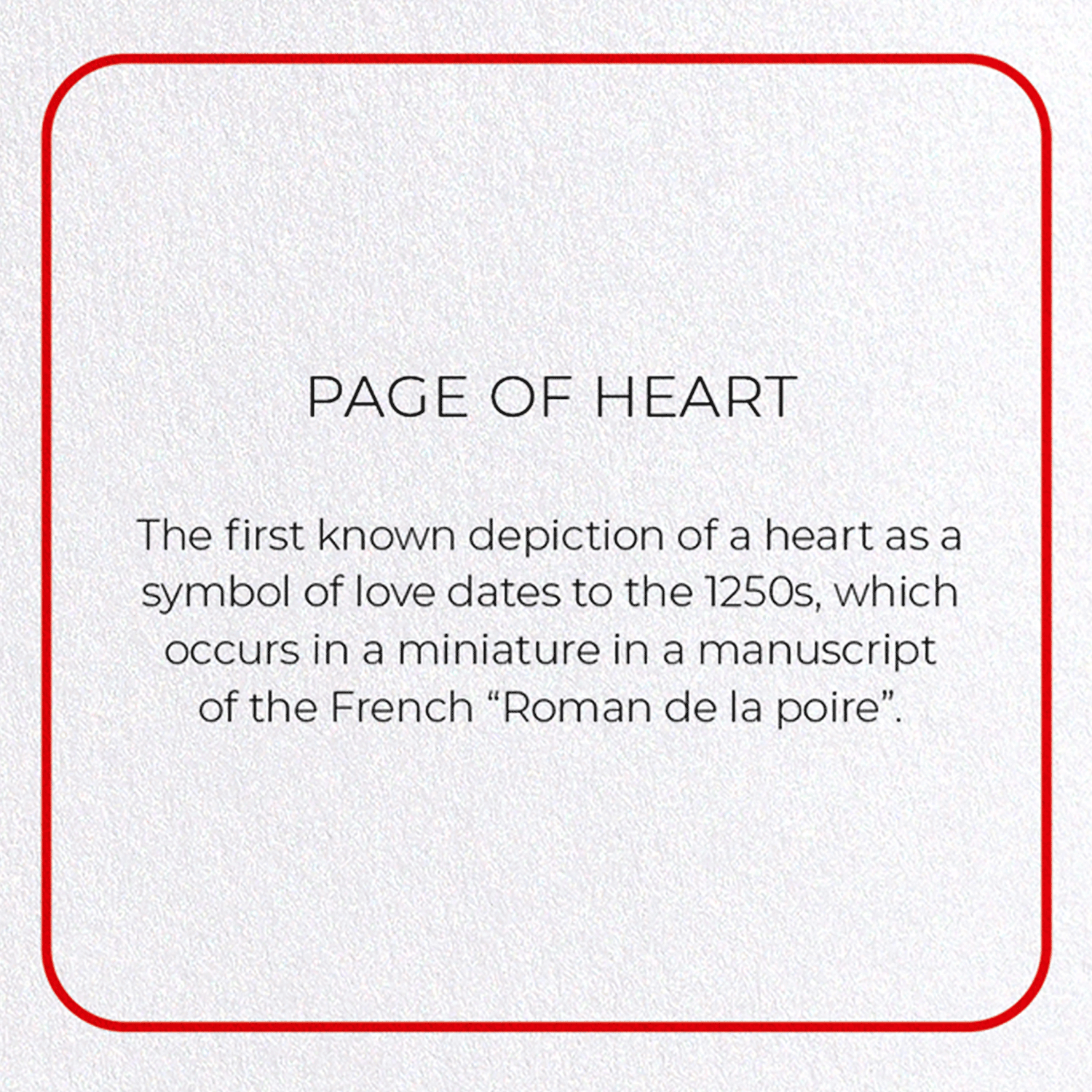 PAGE OF HEART