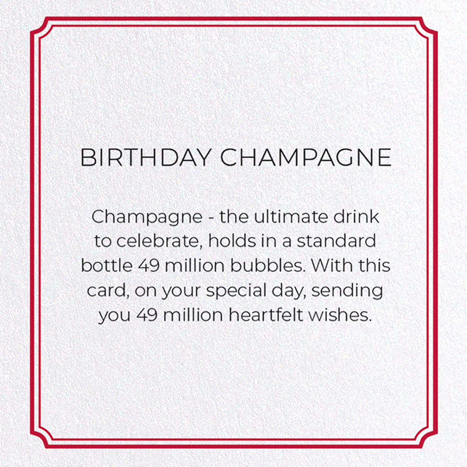 BIRTHDAY CHAMPAGNE