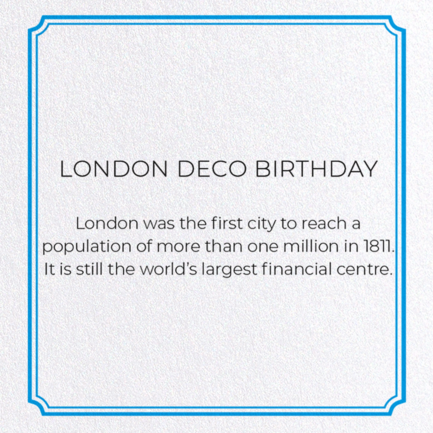 LONDON DECO BIRTHDAY