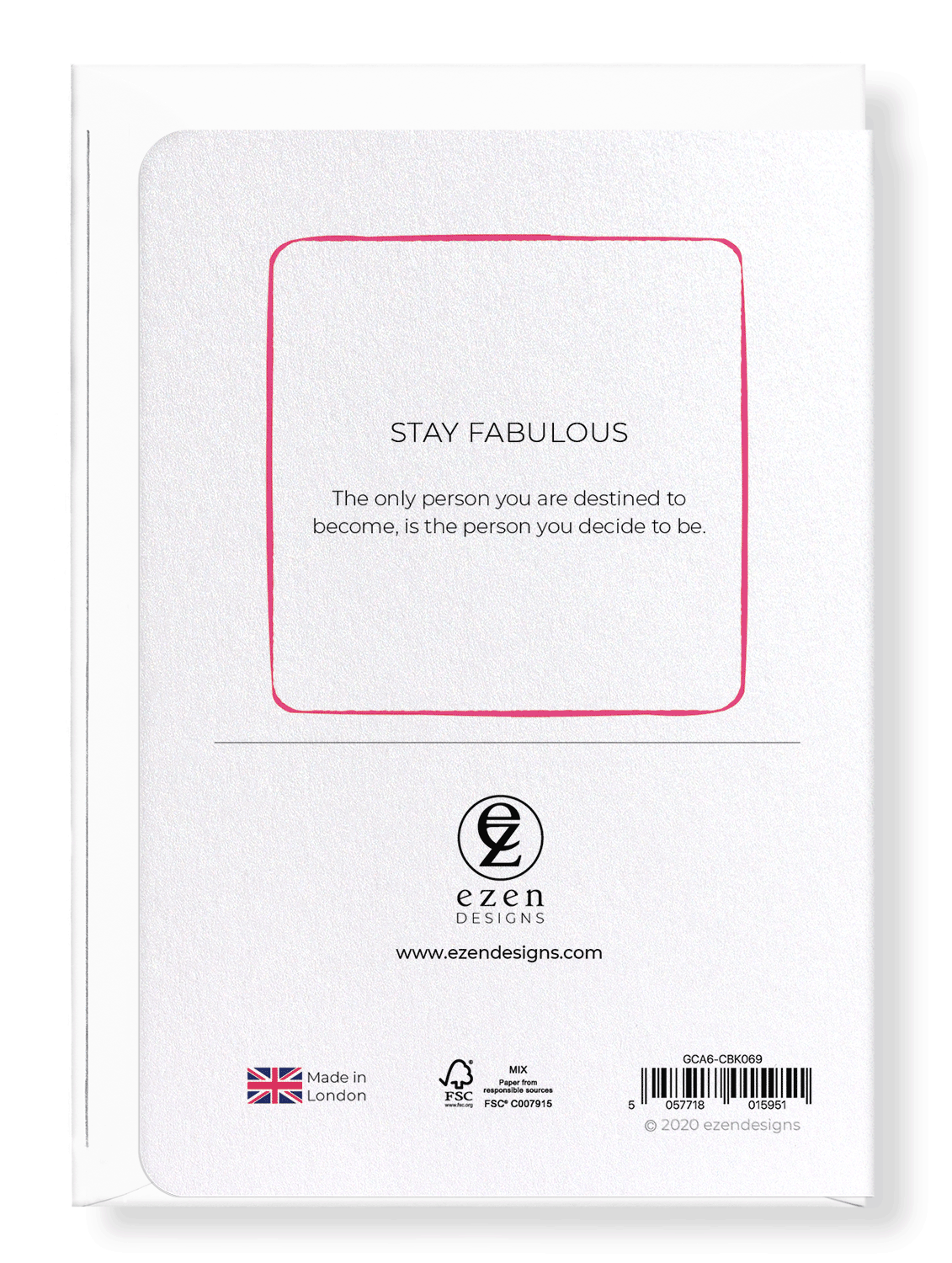 Ezen Designs - Stay fabulous - Greeting Card - Back