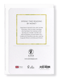 Ezen Designs - SPRING TIME READING - Greeting card - Back