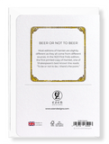 Ezen Designs - Beer or not to beer - Greeting Card - Back