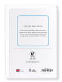 Ezen Designs - Coffee and book - Greeting Card - Back