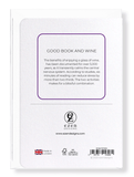 Ezen Designs - Good book and wine - Greeting Card - Back
