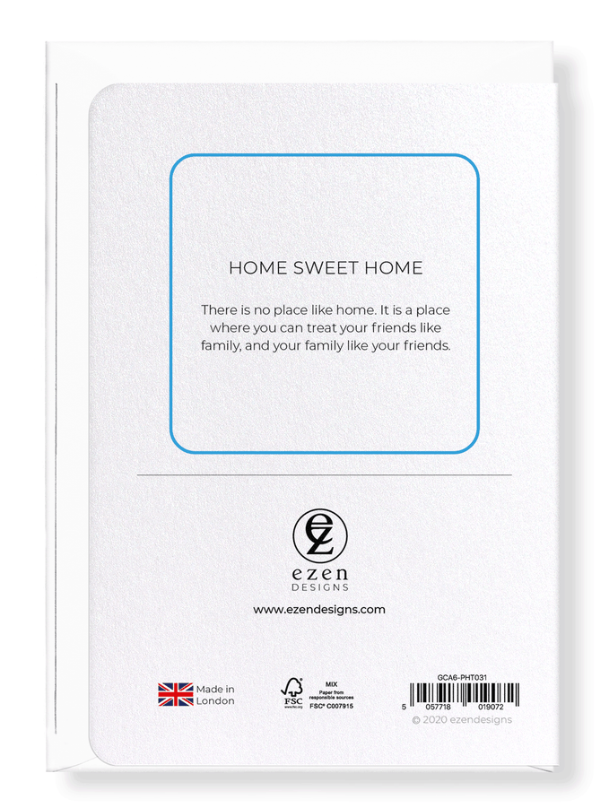 Ezen Designs - Home sweet home - Greeting Card - Back