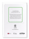 Ezen Designs - Champagne Christmas bottle - Greeting Card - Back