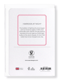 Ezen Designs - Harrods at night - Greeting Card - Back