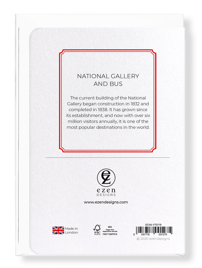 Ezen Designs - National gallery and bus - Greeting Card - Back