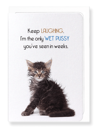 Ezen Designs - Wet pussy - Greeting Card - Front