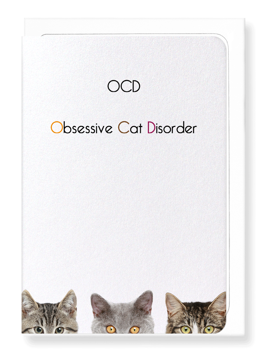 Ezen Designs - OCD (Obsessive Cat Disorder) - Greeting Card - Front
