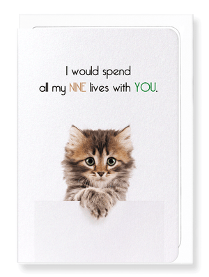 Ezen Designs - Nine lives with you - Greeting Card - Front