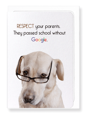 Ezen Designs - Parents and google - Greeting Card - Front
