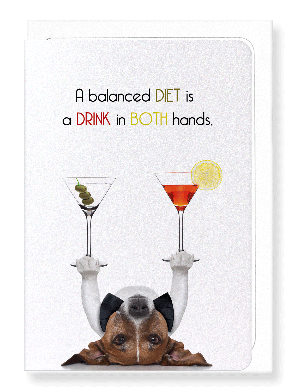 Ezen Designs - Drink in both hands - Greeting Card - Front