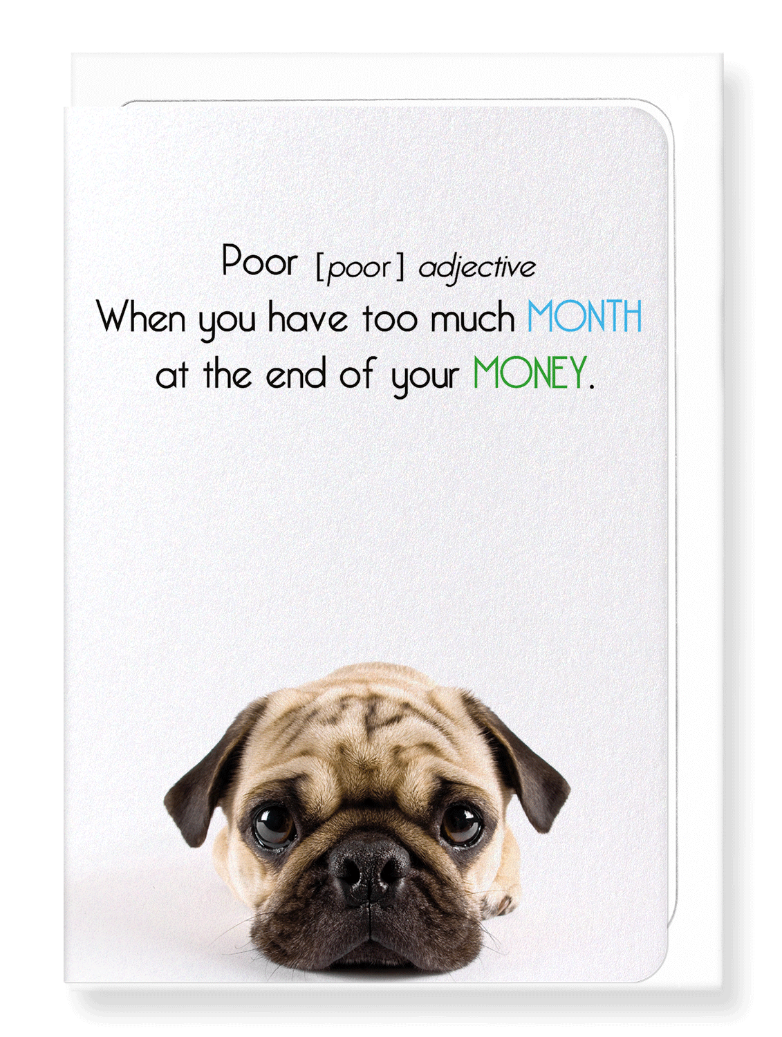 Ezen Designs - Poor and too much month - Greeting Card - Front