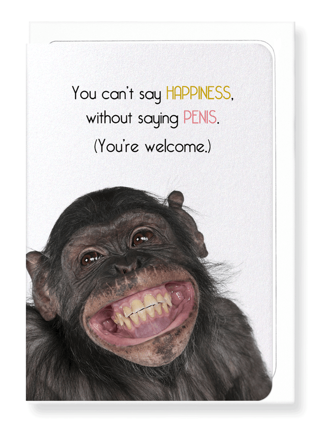 Ezen Designs - Happy penis - Greeting Card - Front