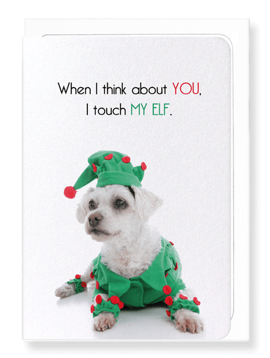 Ezen Designs - Touch my elf  - Greeting Card - Front