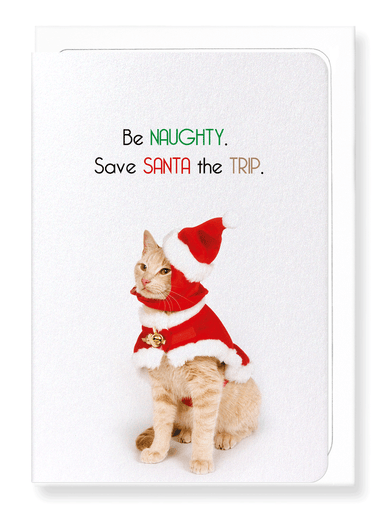 Ezen Designs - Be naughty - Greeting Card - Front
