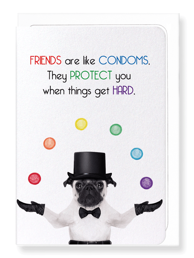 Ezen Designs - Friends and condoms - Greeting Card - Front