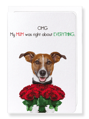 Ezen Designs - Mum always right - Greeting Card - Front