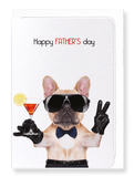 Ezen Designs - Happy father's day frenchie - Greeting Card - Front