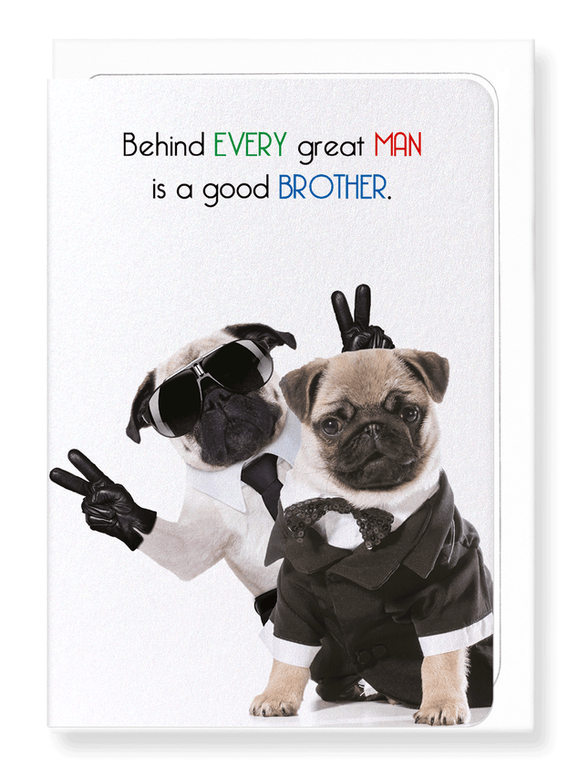 Ezen Designs - Brother makes a man great - Greeting Card - Front