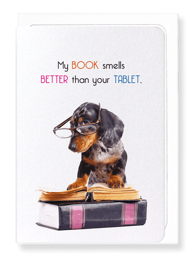 Ezen Designs - Books smell better - Greeting Card - Front