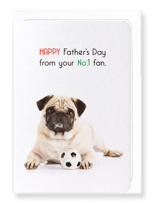 Ezen Designs - Father's day no.1 fan - Greeting Card - Front
