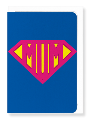 Ezen Designs - Super mum - Greeting Card - Front