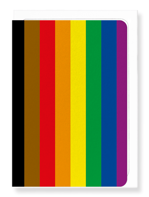 Ezen Designs - POC (Person of colour) flag - Greeting Card - Front