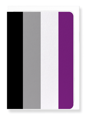 Ezen Designs - Asexual pride flag - Greeting Card - Front