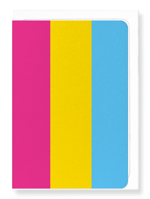 Ezen Designs - Pansexual pride flag - Greeting Card - Front