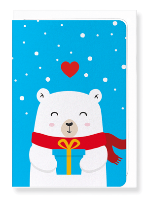 Ezen Designs - Smiling polar bear - Greeting Card - Front