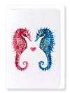 Ezen Designs - Seahorses - Greeting Card - Front