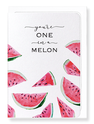 Ezen Designs - ONE IN A MELON - Greeting card - Front
