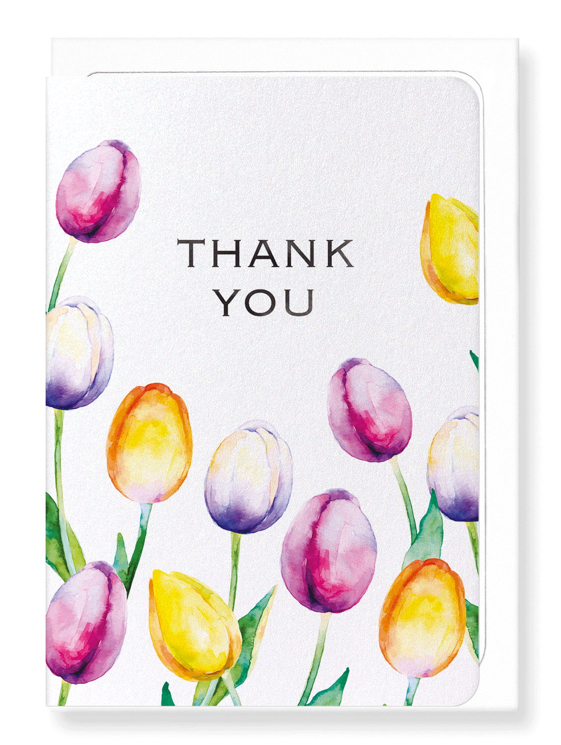 Ezen Designs - Tulip of thanks - Greeting Card - Front