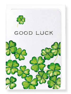 Ezen Designs - LUCKY CLOVER - Greeting Card - Front