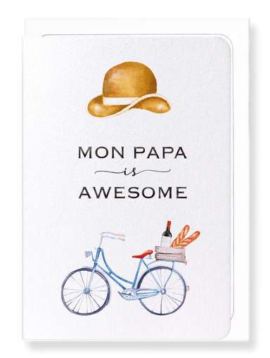Ezen Designs - Awesome papa - Greeting Card - Front